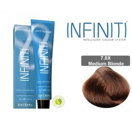Βαφή μαλλιών INFINITI CREME 7.0X MEDIUM BLONDE 100ml - EXTRA GREY COVERAGE