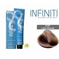 Βαφή μαλλιών INFINITI CREME 8.0X LIGHT BLONDE 100ml - EXTRA GREY COVERAGE