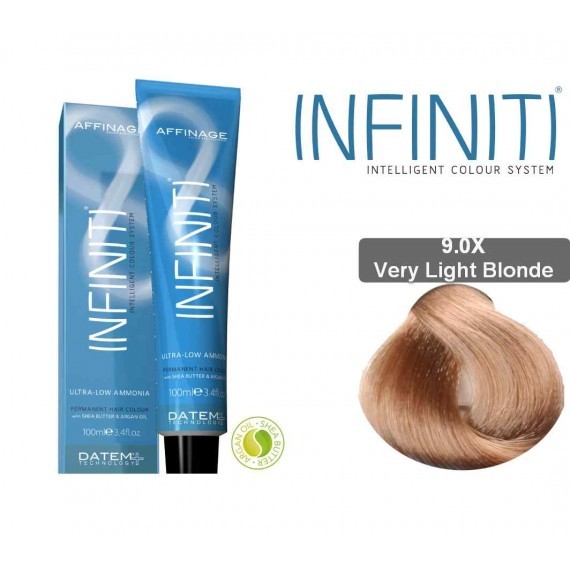 Βαφή μαλλιών INFINITI CREME 9.0X VERY LIGHT BLONDE 100ml - EXTRA GREY COVERAGE