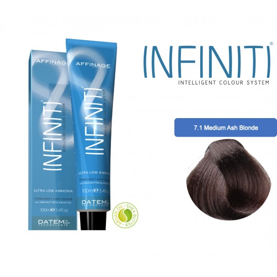 Βαφή μαλλιών INFINITI CREME 7.1 MEDIUM ASH BLONDE 100ml