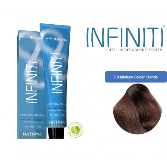 Βαφή μαλλιών INFINITI CREME 7.3 MEDIUM GOLDEN BLONDE 100ml