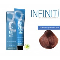 Βαφή μαλλιών INFINITI CREME 7.43 MEDUM COPPER GOLDEN BLONDE 100ml