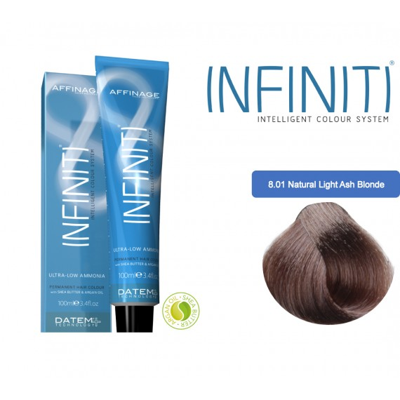 Βαφή μαλλιών INFINITI CREME 8.01 NATURAL LIGHT ASH BLONDE 100ml